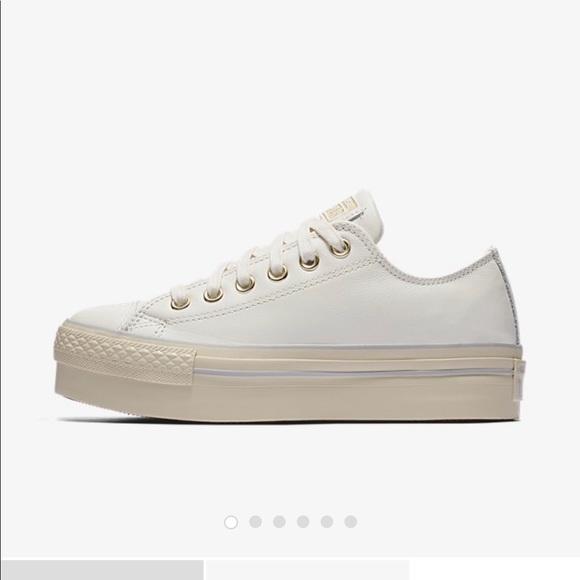 Converse Low-Top Platform Leather Sneakers U2DUgQ0V